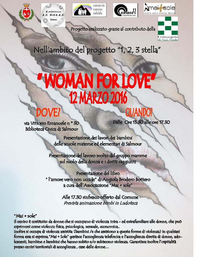 WOMAN FOR LOVE - 12 MARZO 2016
