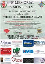 5° MEMORAIL SIMONE PREVE - TORNEO DI CALCIO BALILLA UMANO -